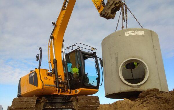 Budowa kanalizacji deszczowej z rur GRP – Strefa Ekonomiczna Nysy