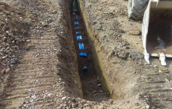 Budowa wodociągu – Szczawno-Zdrój
